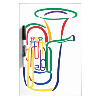 Tuba Outline Dry Erase Board