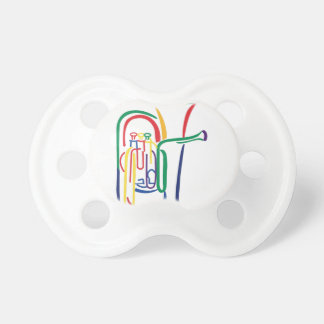 Tuba Outline Pacifier