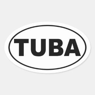 Tuba Oval Sticker