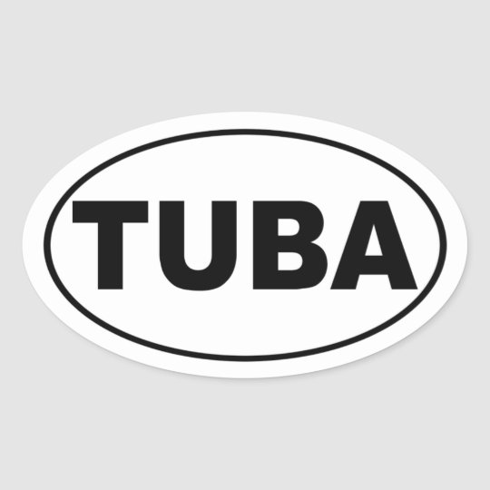 Tuba Oval Sticker