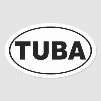 Tuba Oval Stickers
