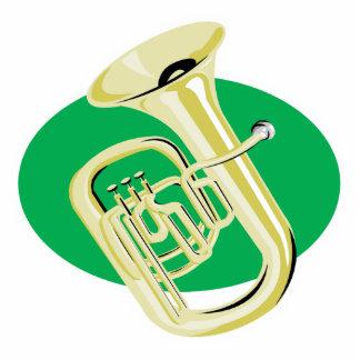 tuba photo sculpture ornament