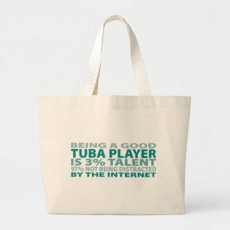 Tuba Player 3% Talent Canvas Bag