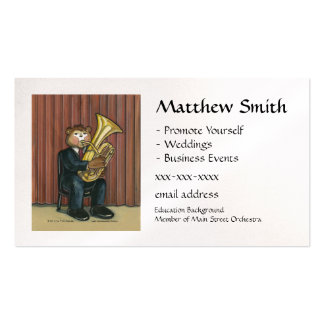 Tuba Player Business Card
