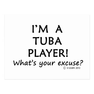 Tuba Player Excuse Postcard