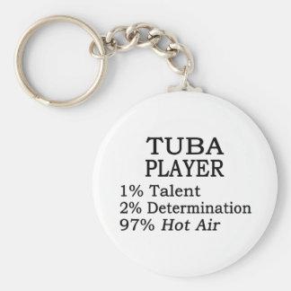 Tuba Player Hot Air Basic Round Button Keychain