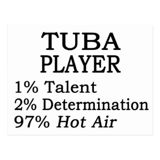 Tuba Player Hot Air Postcard