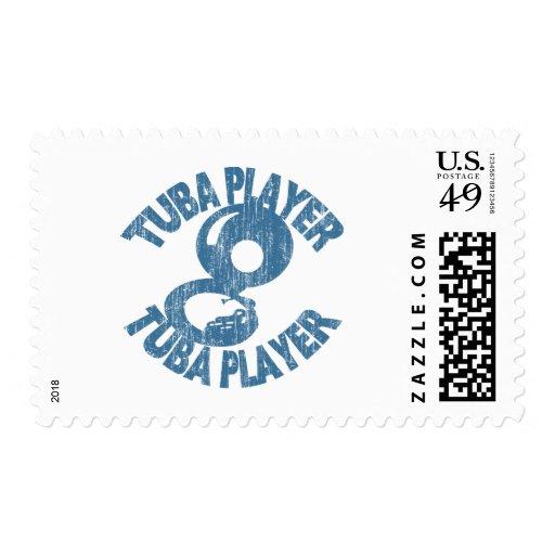 Tuba Player Postage Stamp