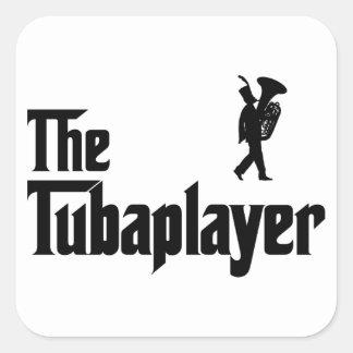 Tuba Player Square Sticker