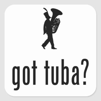 Tuba Player Square Sticker