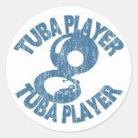 Tuba Player Stickers