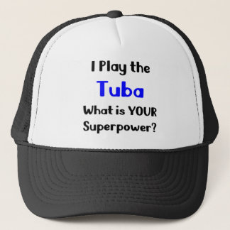 Tuba player trucker hat