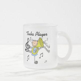 Tuba Player Tshirts and Gifts Frosted Glass Coffee Mug