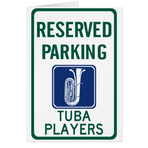 Tuba Players Parking Greeting Cards
