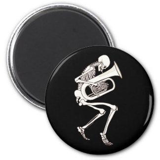 Tuba Playing Skeleton Fridge Magnets
