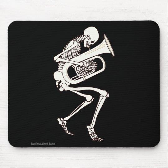 Tuba Playing Skeleton Mouse Pad