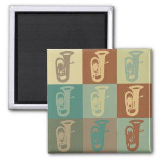 Tuba Pop Art Refrigerator Magnets