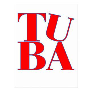 TUBA POSTCARD