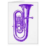 Tuba púrpura tarjeta