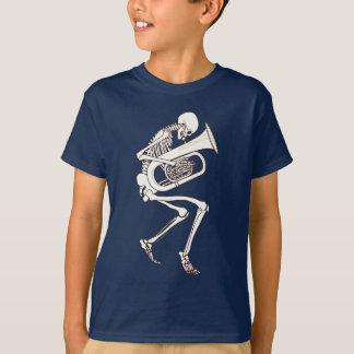 Tuba que juega el esqueleto playeras