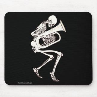 Tuba que juega el esqueleto tapetes de raton