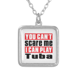 Tuba Scare Designs Silver Plated Necklace