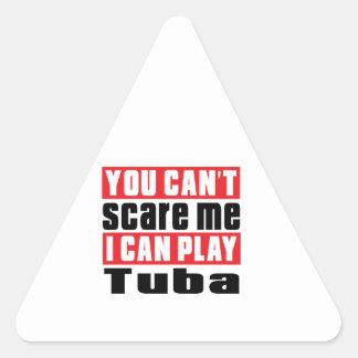 Tuba Scare Designs Triangle Sticker