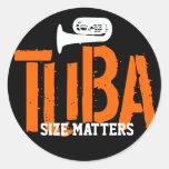 TUBA Size Matters Round Sticker