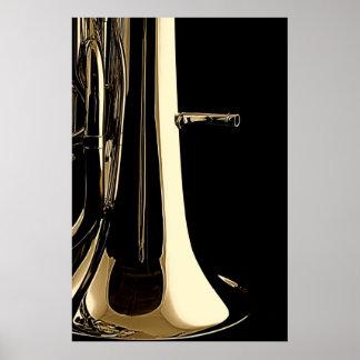 Tuba Souasphone Band Musician Poster