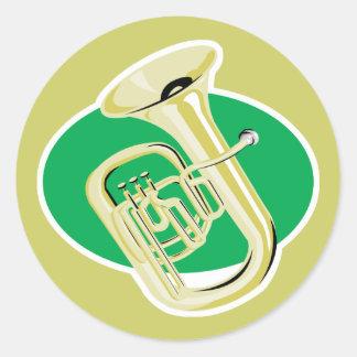 tuba classic round sticker
