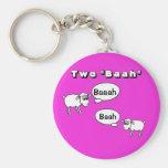 Tuba- Two baah! Basic Round Button Keychain