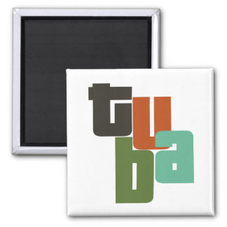 Tuba Type 2 Inch Square Magnet