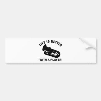 Tuba vector designs bumper sticker