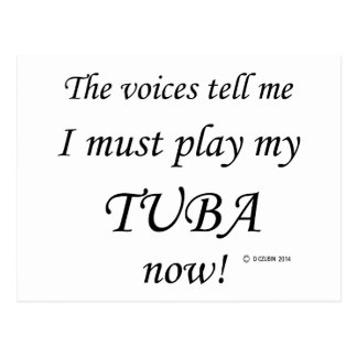 Tuba Voices Say Must Play Postcard