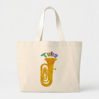 Tuba with Big Fat Sound Large Tote Bag