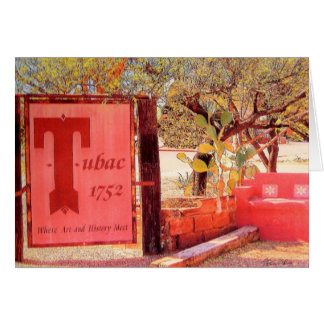 Tubac Corners, Tubac Arizona notecard