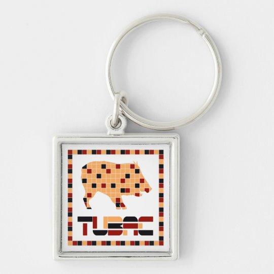Tubac Javelina Mosaic Keychain