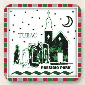 Tubac Presidio Christmas Cork Coaster Set