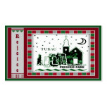 Tubac Presidio Park Mosaic Christmas Gift Tags Double-Sided Standard Business Cards (Pack Of 100)