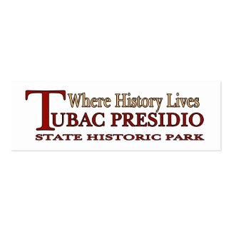 Tubac Presidio Park small bookmark Business Card Templates