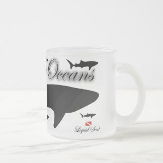 Tubar6ao of whale - to save our oceans frosted glass coffee mug