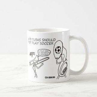 Tubas Play Soccer Coffee Mug