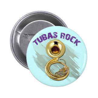 TUBAS ROCK PINBACK BUTTON