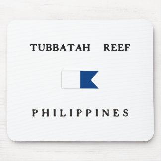 Tubbatah Reef Philippines Alpha Dive Flag Mousepads