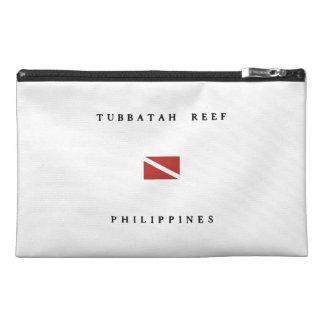 Tubbatah Reef Philippines Scuba Dive Flag Travel Accessory Bags