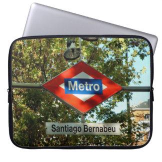 Tube station of Santiago Bernabeu, Madrid Laptop Sleeve