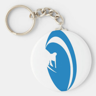 Tube Surfer Blue Keychain