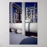 Tubería de la refinería de petróleo posters