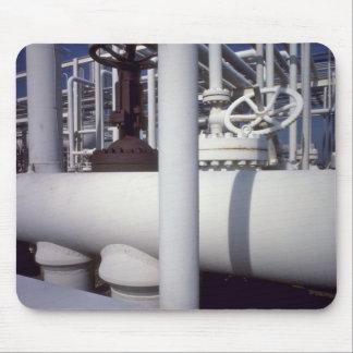Tubería de la refinería de petróleo alfombrillas de ratones