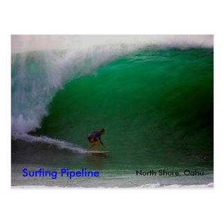 Tubería que practica surf, orilla del norte, Oahu Tarjeta Postal